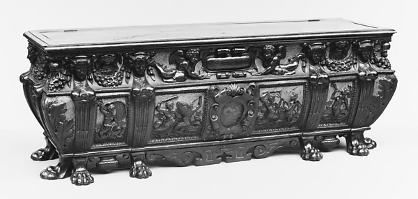 Marriage chest (cassone) (one of a pair)