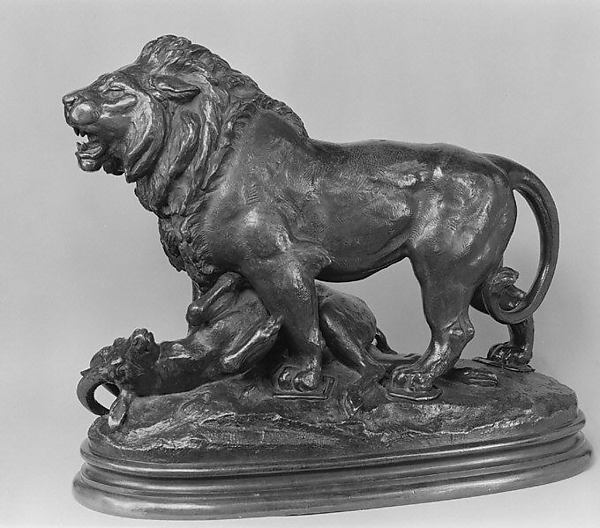 Lion with Antelope