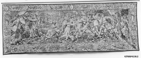 The Sabine Women Stopping the Battle between the Romans and the Sabines from the Story of the Romans and the Sabines