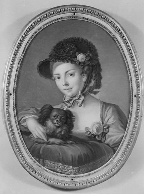 Woman with a dog (one of a set)