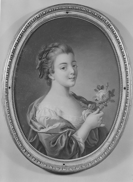 Woman with a rose (one of a set)