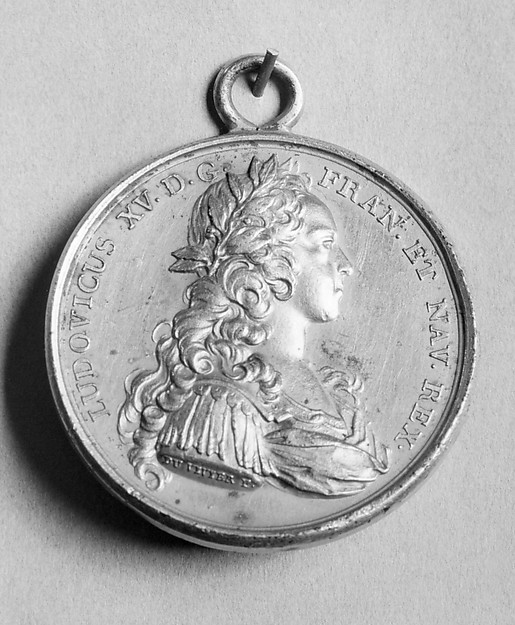 Fascinating Historical Picture of Medalist with Louis XV in 1715