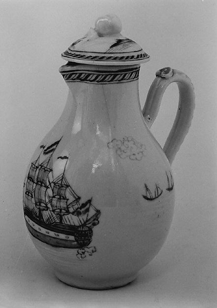 Milk jug with cover (part of a set)
