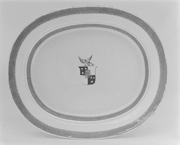 Platter with rack (part of a service)