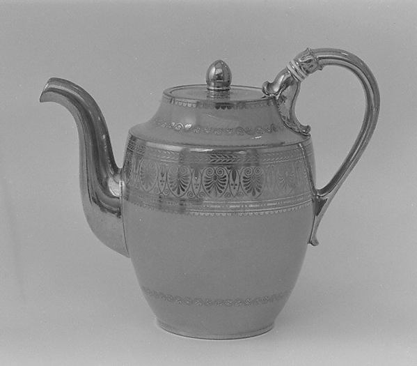 Teapot (Théière Pestum) (part of a service)