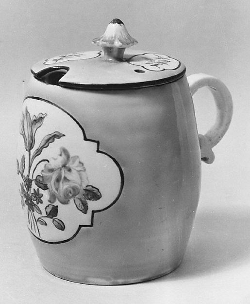 Mustard pot with cover and stand