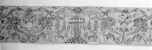 Valance with grotesques