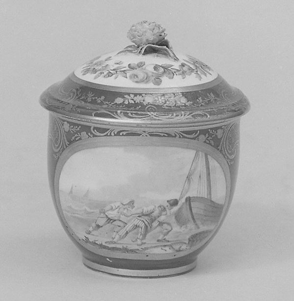 Sugar bowl with cover (pot à sucre Bouret) (part of a service)