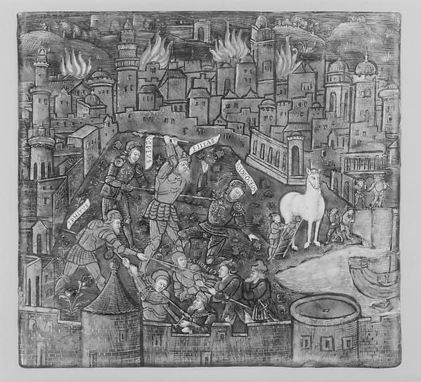 The Trojans Defend Their City; They Kill Androgeos (Aeneid, Book II)