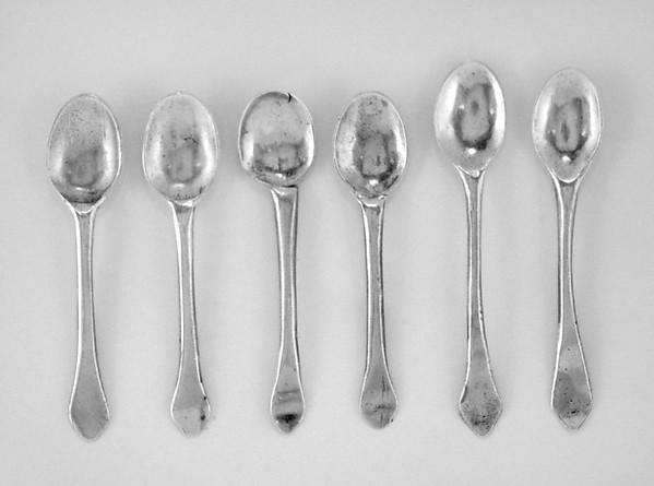 Six miniature spoons (part of a set)