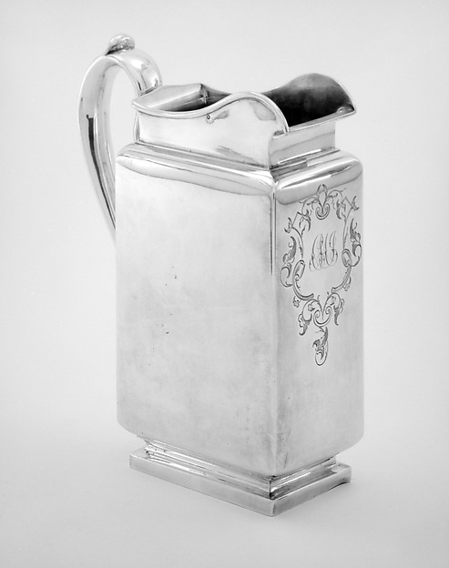 Pitcher with handle (part of a set)
