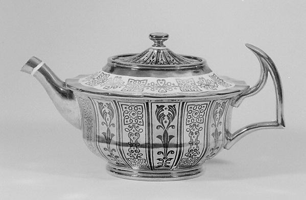 Teapot with cover (part of a tea service)