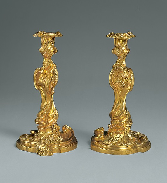 Pair of candlesticks (flambeaux or chandeliers)