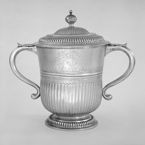 Two-handled cup with cover