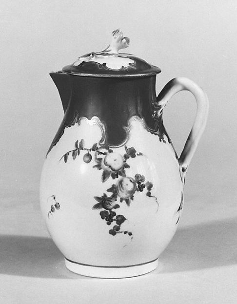Milk jug with cover (part of a service)
