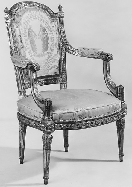 Armchair (fauteuil en cabriolet) (one of a pair) (part of a set)
