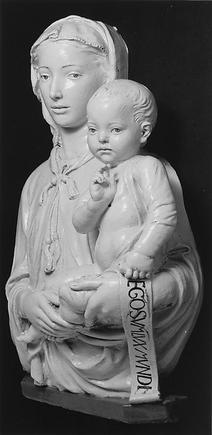 Madonna and Child with Scroll