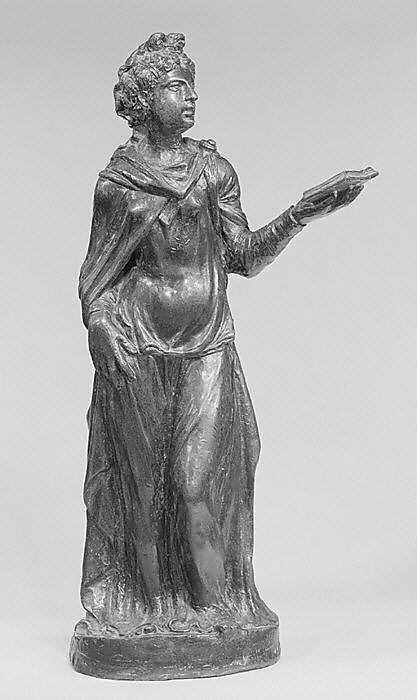 Allegorical female stautette: a Virtue or Sibyl