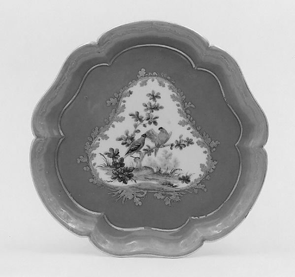 Stand for ice-cream cups (plateau Bourets) (one of four) (part of a service)