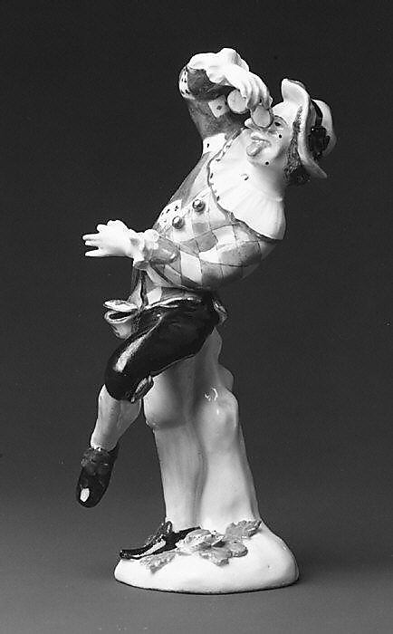 Harlequin with pince-nez