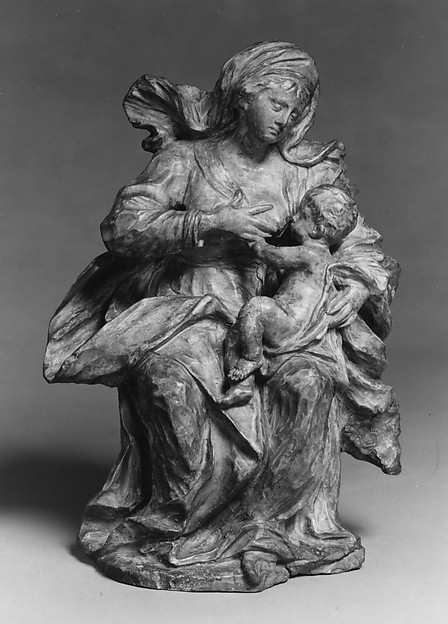Fascinating Historical Picture of Giovanni Giuliani with Virgin and Child in 1736