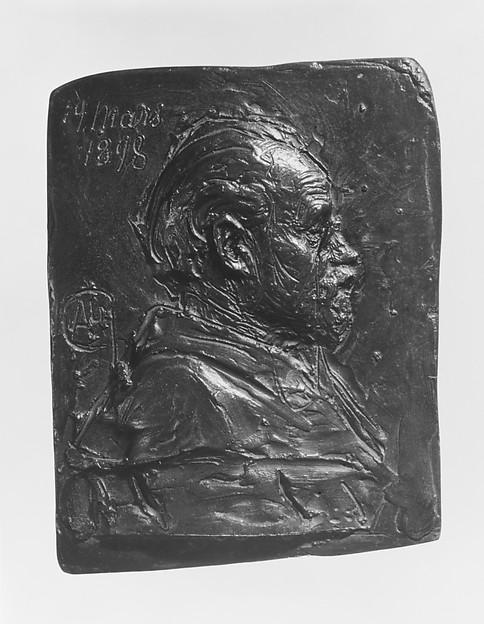Portrait Relief of Émile Zola