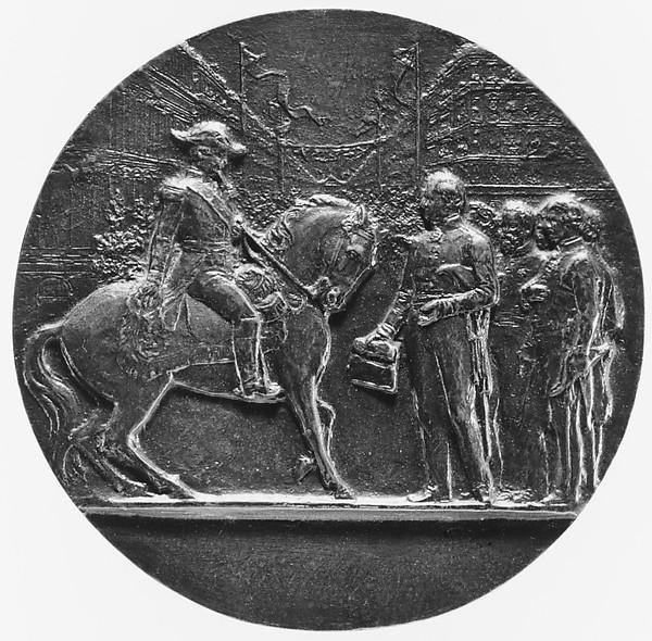 Napoleon III on Horseback, Inaugurating the Boulevard de Strasbourg