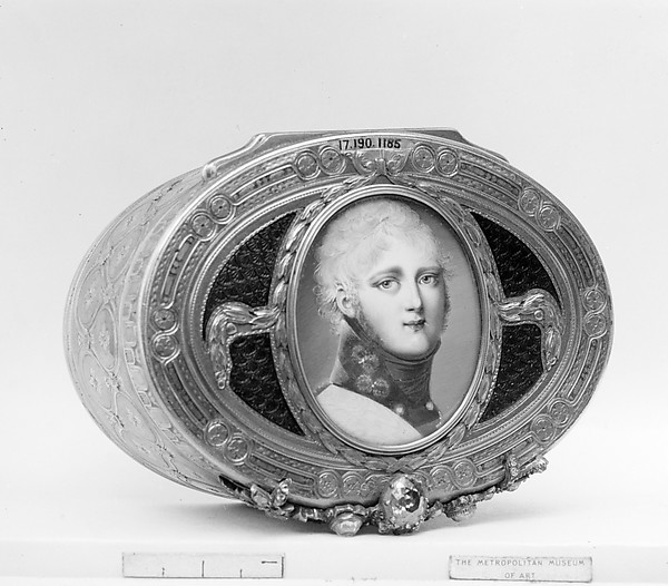 Snuffbox with miniature of Alexander I of Russia