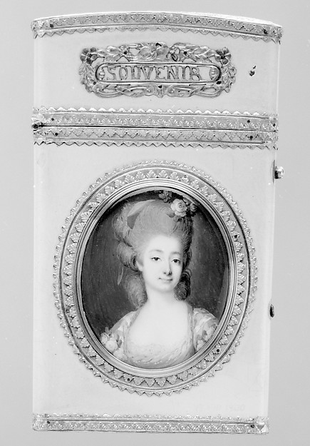 This is What Franois Dumont and Souvenir with portrait of a woman Looked Like  in 1776