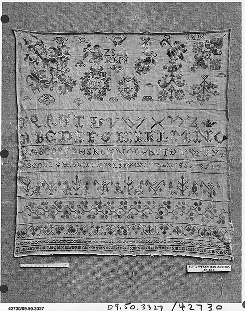 This is What Southern German culture and Sampler Looked Like  in 1752