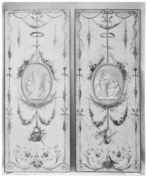 Decorative panel (one of a pair)