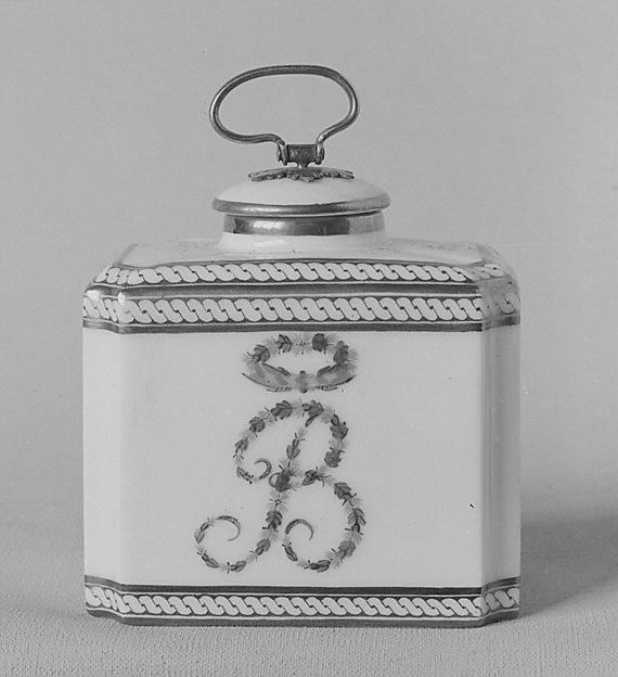 Tea caddy (part of a traveling tea service)