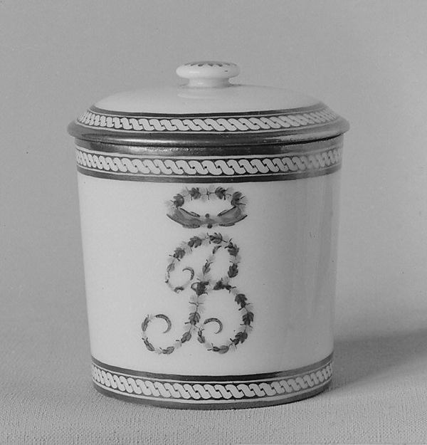 Jar with cover (part of a traveling tea service)