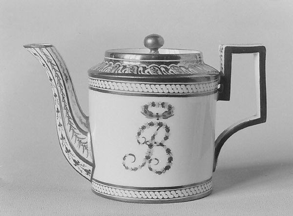 Teapot (part of a traveling tea service)
