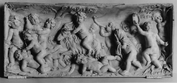 Cupids in Bacchanalian scene
