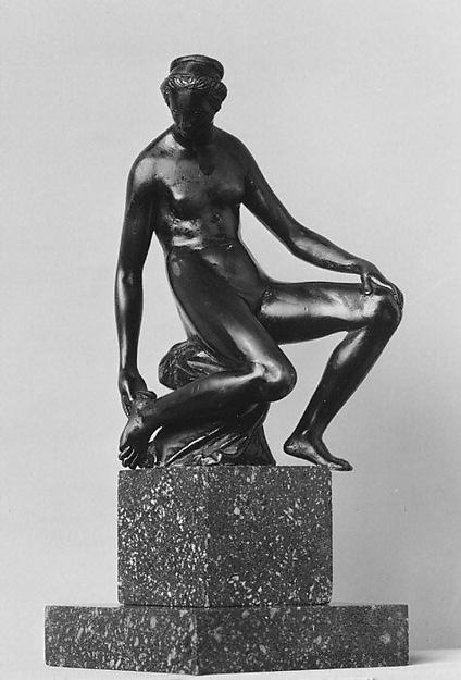 Seated Nude Woman Touching her Foot