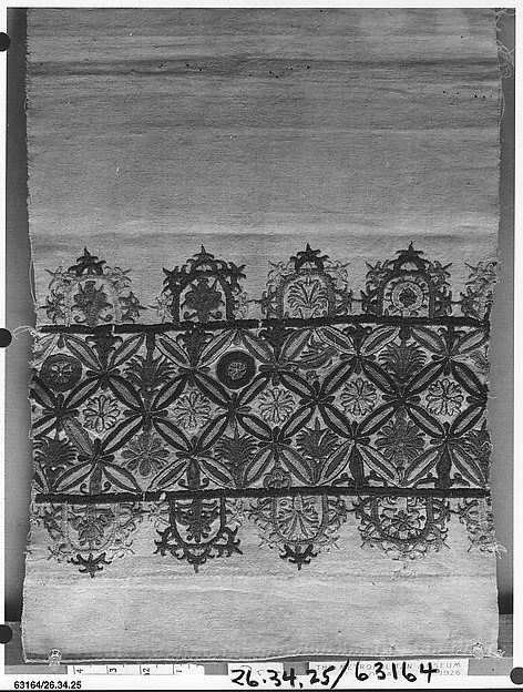 Part of a dress border