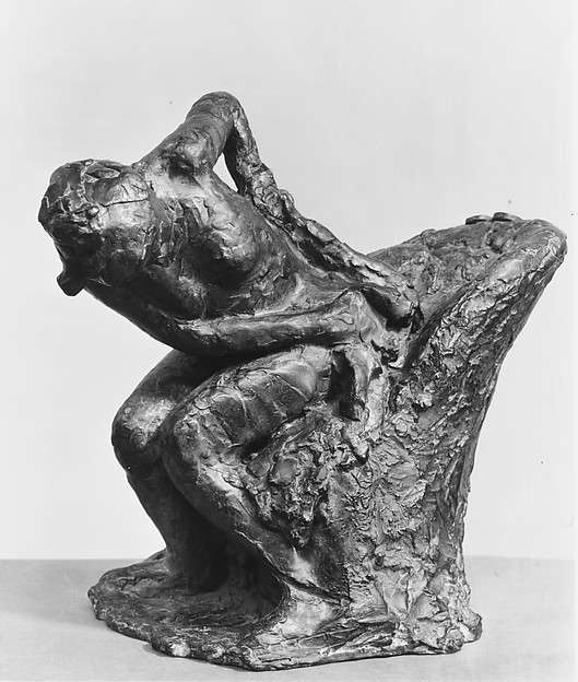 Seated Woman Wiping her Left Hip