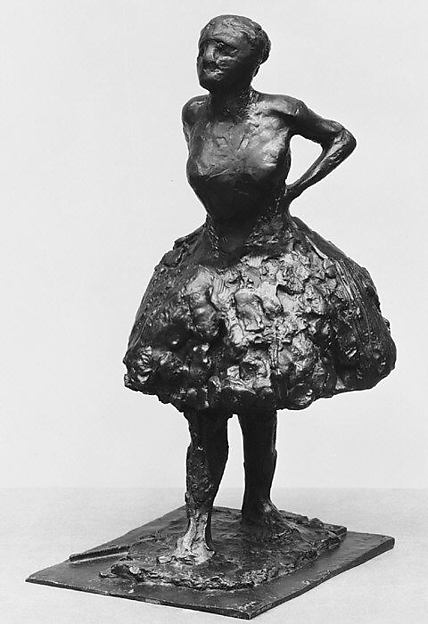 Dressed Dancer, at Rest, Hands Behind Her Back, Right Leg Forward (Second State)