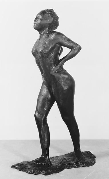 Dancer at Rest, Hands Behind Her Back, Right Leg Forward