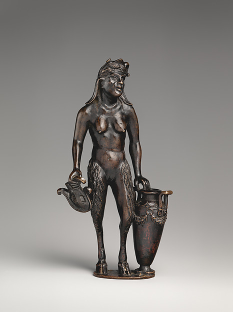 Fascinating Historical Picture of Andrea Briosco called Riccio with Satyr with urn (one of a pair) in 1510