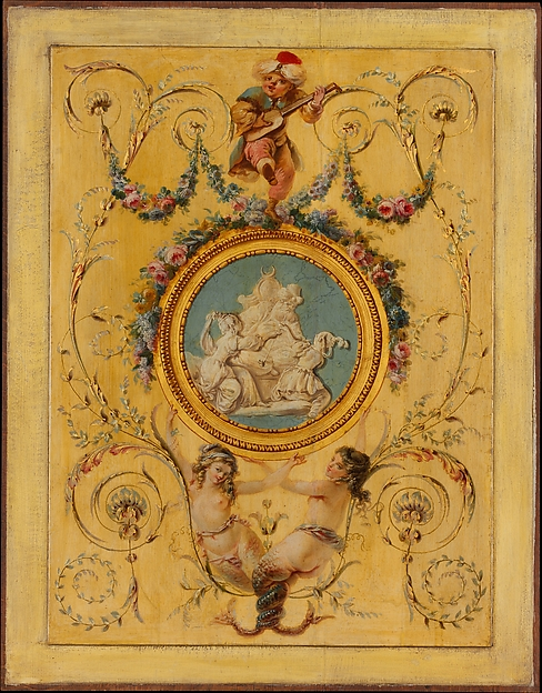"Door panel from the ""Cabinet Turc"" of Comte d'Artois at Versailles"
