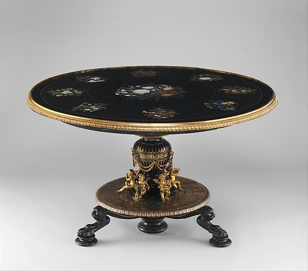 Marble-top table