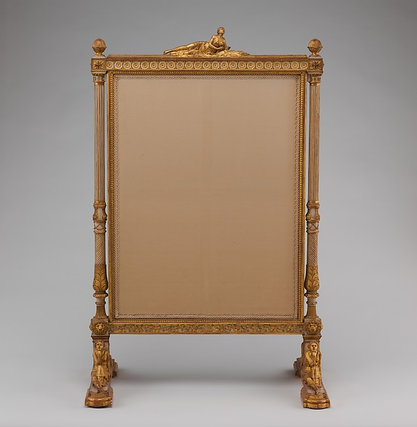 Fire screen (Écran) (part of a set)
