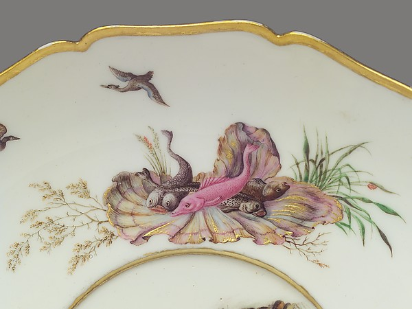 Broth bowl with cover and stand (écuelle ronde et plateau rond)