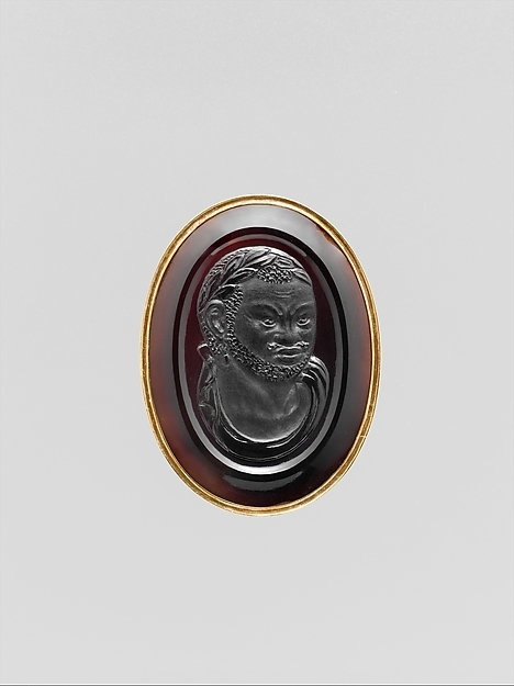 Bust of a Roman Emperor (obverse) and Bust of a man of African descent (reverse)