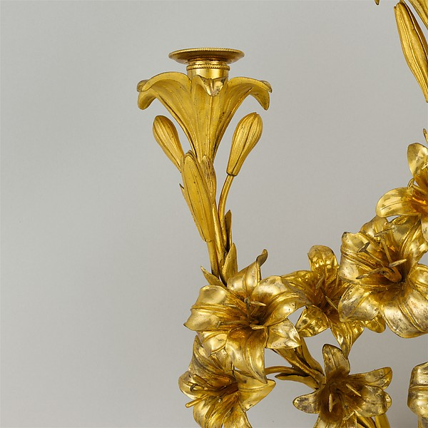 Pair of three-light sconces (bras de lumière)