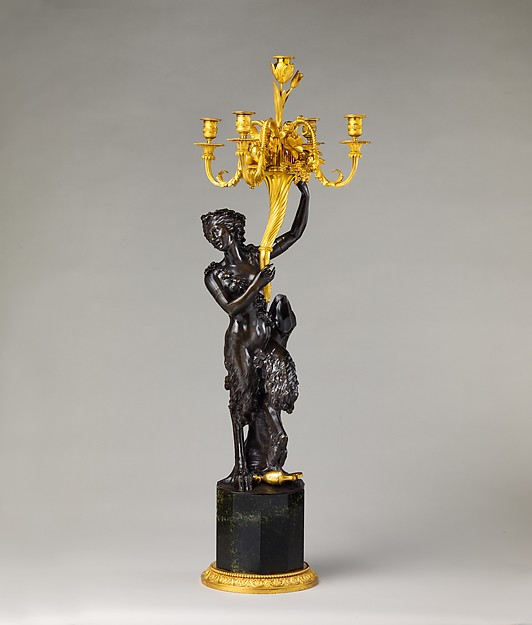 Five-light candelabra (one of a pair)