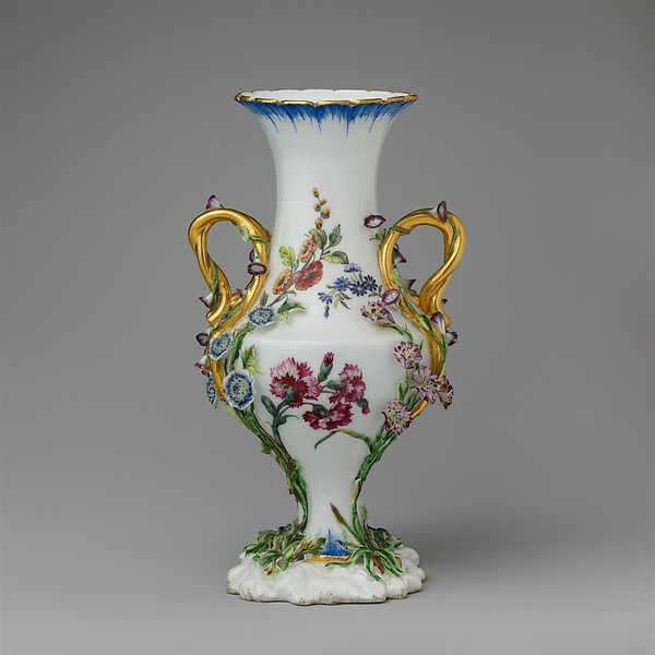 This is What French Vincennes culture and Vase (urne Duplessis) (group of three) Looked Like  in 1752
