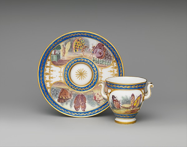 Cup (Tasse à l'étrusque) and saucer